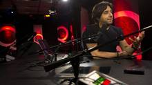 Former CBC Radio personality Jian Ghomeshi, pictured here in the Q studio in Toronto in 2012, (Kevin Van Paassen/The Globe and Mail)