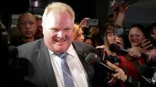 Toronto Mayor Rob Ford arrives at his office in City Hall the day after allegations of substance abuse surfaced, May 17, 2013. (Fernando Morales/The Globe and Mail)