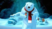 Coca-Cola's polar bears will be featured in ad spots for the Super Bowl. (Coca-Cola Co./Coca-Cola Co.)