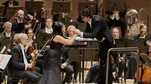 Simone Osborne and Michael Sanderling during The Toronto Symphony Orchestra's Mahler Symphony No. 4. (Malcolm Cook)
