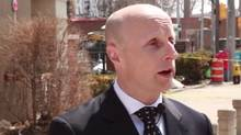 TTC head Andy Byford talks to spokesman Brad Ross in a Youtube frame grab.