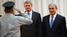 Prime Minister Stephen Harper meets with Israeli Prime Minister Benjamin Netanyahu in Jerusalem, Israel, on Sunday, Jan. 19, 2014. (Sean Kilpatrick/Canadian Press)