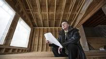 Danny Ritchie, President of Ultimate Renovations, looks over drawings. (Chris Bolin/Chris Bolin)