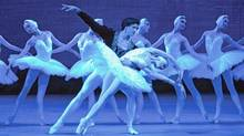 "A scene from ""Swan Lake"""