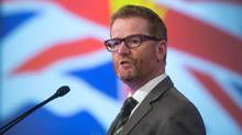 British Columbia Health Minister Terry Lake addresses the Canadian Medical Association's General Council 2016, in Vancouver, B.C., on Monday, August 22, 2016. (DARRYL DYCK/THE CANADIAN PRESS)