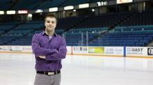Former hockey writer Kyle Palantzas went back to school after discovering the business side of the game interested him just as much as what was on the ice.