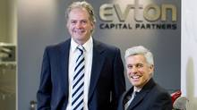 Evton Capital Partners' Michael Bunston, right, and Bill Evans in their Toronto office, Thursday, October 14, 2010. (Darren Calabrese for The Globe and Mail)