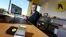 Yellow Media Ltd. CEO Julien Billot, seen in his office in Montreal, says their goal is for digital sales to reach 80 to 90 per cent of revenue by 2018. (Christinne Muschi For The Globe and Mail)