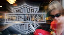 Harley lowered the bottom end of its full-year motorcycle shipment forecast to accommodate a slight supply chain interruption. (BRIAN SNYDER/REUTERS)