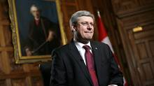 Canada's Prime Minister Stephen Harper waits for the start of an interview with Reuters in his office on Parliament Hill in Ottawa February 3, 2012. (CHRIS WATTIE/REUTERS/CHRIS WATTIE/REUTERS)