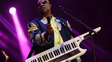 """In this May 19, 2013 file photo, Stevie Wonder performs in Gulf Shores, Ala. Mr. Wonder has refused to play in Florida as a result of the """"stand your ground"""" law. (John Davisson/AP)"""