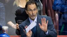 Vancouver Canucks head coach John Tortorella gestures (The Canadian Press)