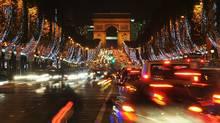 Christmas lights along the Champs Elysees avenue last November. (Pascal Le Segretain/Pascal Le Segretain/Getty Images)