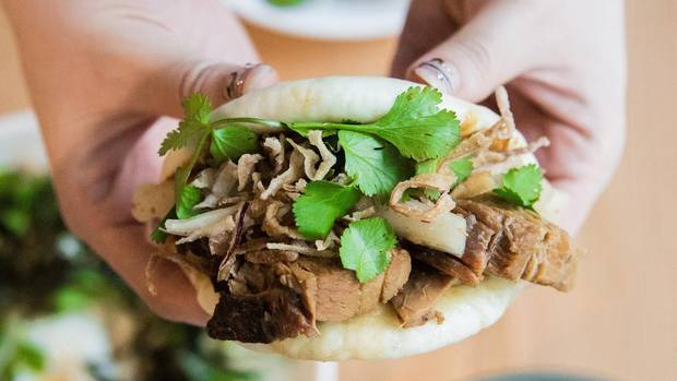 Pork-belly bao from Heritage Asian Eatery, a Vancouver Chinese Restaurant Award-winning dish.