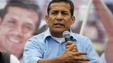 Peru's president Ollanta Humala speaks during a campaign rally in May, 2011. Mr. Humala has an ambitious energy agenda for the country, including the construction of new pipelines. (Mariana Bazo/Reuters)