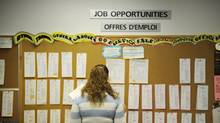 Youth search online and on a job board at YES Youth Employment Services in Toronto. (Kevin Van Paassen/Kevin Van Paassen/The Globe and Mail)