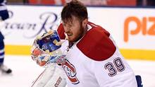 Mike Condon played with the Montreal Canadiens before being acquired by the Penguins in October, and now the Senators. (Frank Gunn/THE CANADIAN PRESS)