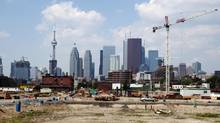 Toronto's West Don Lands, seen June 21, 2012, will be home to the PanAm Games' athletes village. (Michelle Siu For The Globe and Mail)
