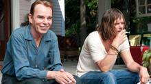 """Billy Bob Thornton (left) and Kevin Bacon in a scene from """"Jayne Mansfield's Car"""""""