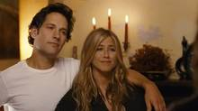 "Screen grab from the online trailer for the new comedy ""Wanderlust,"" starring Paul Rudd and Jennifer Aniston"