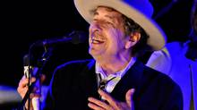U.S. musician Bob Dylan received his Nobel award April 1, 2017, during a small gathering at a Stockholm hotel. (Ki Price/REUTERS)