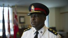 Toronto police Chief Mark Saunders is photographed at police headquarters in Toronto on May 26, 2015. (Kevin Van Paassen For The Globe and Mail)