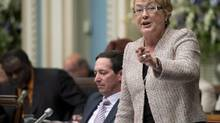 Quebec Premier Pauline Marois responds to questions on June 4, 2013, at the legislature in Quebec City. (Jacques Boissinot/The Canadian Press)