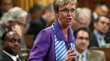 Interim NDP Leader Nycole Turmel speaks during Question Period in the House of Commons Sept. 20, 2011. (CHRIS WATTIE/REUTERS)