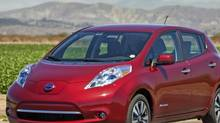 The 2013 Nissan Leaf charges up quicker than the 2012 model. (Nissan)