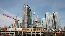 City Place condo site off of Front St. West in downtown Toronto. (Charla Jones/The Globe and Mail)