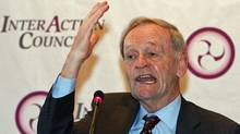 Former prime minister Jean Chretien speaks during a news conference after the InterAction Council's meeting in Quebec City on May 31, 2011. (CLEMENT ALLARD/THE CANADIAN PRESS)