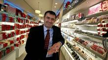 Shoppers Drug Mart Chief Executive Officer Jurgen Schreiber poses for a photo in the Beuty Boutique of a Shoppers Drug Mart location. (Deborah Baic/The Globe and Mail)