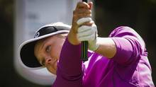 Canada's Brooke Henderson tees off on the 15th hole during the pro-am at the LPGA Canadian Open tournament in Calgary, Alta., Wednesday, Aug. 24, 2016. (Jeff McIntosh/THE CANADIAN PRESS)