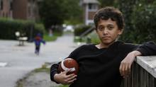 Mashal Joyaa, a grade 7 student at Churchill Heights Public School who started a Facebook page to mobilize students after the football team at his school was cancelled, photographed at home in Markham, Ontario September 18 2012. (Fernando Morales/The Globe and Mail)
