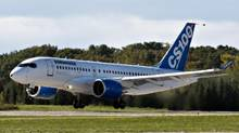 Bombardier's C-Series100 takes off on its maiden test flight in Mirabel, Que, September 16, 2013. (Ryan Remiorz/THE CANADIAN PRESS)