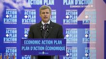 Prime Minister Stephen Harper speaks at the opening of a research centre in Guelph, Ont., on Sept. 21, 2009. (FRANK GUNN/The Canadian Press)