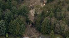 Two houses were destroyed by a mudslide in North Vancouver in early 2005. (Nick Didlick/The Globe and Mail)