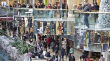 Shoppers look to purchase gifts on the last weekend before Christmas at West Edmonton Mall, in Edmonton Alberta, December 15, 2012. (JASON FRANSON For The Globe and Mail)