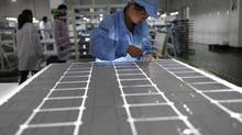 The European Commission is investigating whether Chinese solar companies are selling below cost, or 'dumping,' in the world's biggest solar market. European companies have complained that their Chinese rivals benefit unfairly from subsidies. (REUTERS)