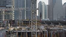 Condominiums under construction in Toronto. (Fred Lum/Fred Lum/The Globe and Mail)
