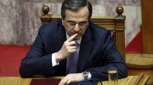 Greek Prime Minister Antonis Samaras (JOHN KOLESIDIS/REUTERS)