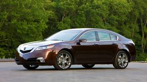 The 2010 TL's angular styling is of the love-it-or-hate-it variety.