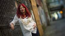 Amber Dawn's new book explores her life as a sex worker through poetry and essays, and was recently nominated for the City of Vancouver Book Award. editors note: a tilt shift lens was used (John Lehmann/The Globe and Mail)