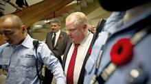 Mayor Rob Ford plans to speak at a Remembrance Day service on Monday. (Kevin Van Paassen/The Globe and Mail)