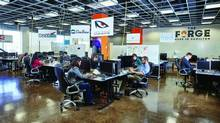 The Forge is a software incubator/free working space. It's allied with McMaster University and Innovation Factory.