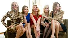 The Real Housewives of Vancouver pose for a photograph in the penthouse at the Loden Hotel in Vancouver. (DARRYL DYCK/Darryl Dyck for The Globe and Mail)