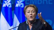 Quebec Premier Pauline Marois speaks in Montreal on Nov. 10, 2013. (GRAHAM HUGHES/THE CANADIAN PRESS)