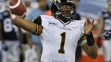 Henry Burris has helped the Hamilton Tiger-Cats keep pace this season with the East Division-leading Toronto Argonauts. (MIKE CASSESE/REUTERS)