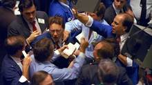 Traders at the New York Stock Exchange on Black Monday -- Oct. 19, 1987. (PETER MORGAN/The Associated Press)
