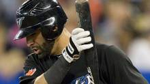 Toronto Blue Jays' Jose Bautista has been ejected from Friday's game against Tampa Bay. FILE PHOTO: THE CANADIAN PRESS/Darren Calabrese (Darren Calabrese/The Canadian Press)